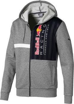 Puma RBR Logo Kapuzensweatjacke Herren grau