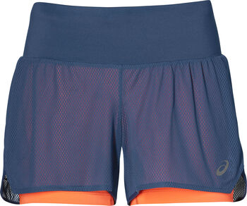 Asics Cool 2-IN-1 Laufshort Damen blau