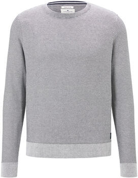 TOM TAILOR Modern Basic Pullover Herren grau