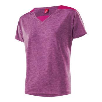 LÖFFLER Rainbow V-Shirt  Damen rot
