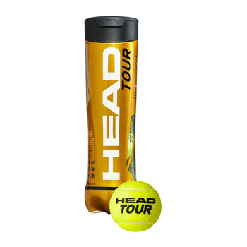 Head Tour 4-er Pack Tennisbälle gelb