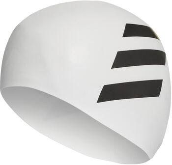 adidas 3-Streifen Badekappe weiß