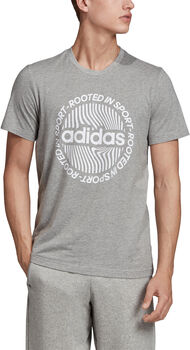 ADIDAS Circled Graphic T-Shirt Herren grau