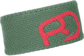 ORTOVOX Rock'n'Wool Logo-Stirnband grün