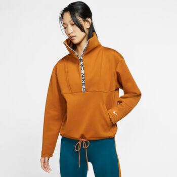 Nike Pro Fleece-Kurzoberteil Damen orange