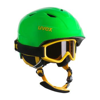 Uvex Airwing 2 Pro Set Skihelm & Brille grün