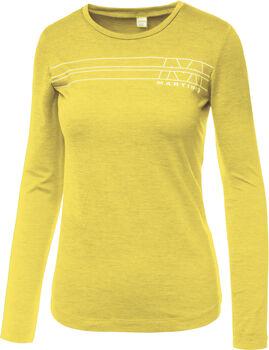 MARTINI Solid Langarmshirt Damen gelb
