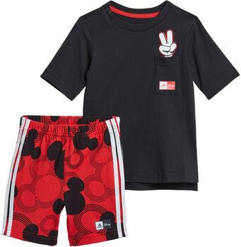 adidas Disney Mickey Mouse Sommer Set T-Shirt + Shorts schwarz