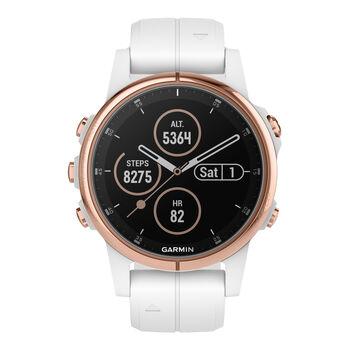 Garmin Fenix 5S Plus Saphir Multipsort GPS Smartwatch cremefarben