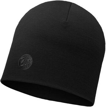 Buff Merinowolle Heavyweight Mütze schwarz
