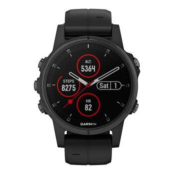 Garmin Fenix 5S Plus Saphir Multipsort GPS Smartwatch schwarz