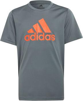 adidas Desgined 2 Move Big Logo T-Shirt grau