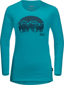 Jack Wolfskin Crosstrail Graphic Langarmshirt Damen blau