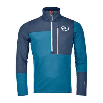 ORTOVOX Fleece Light Langarmshirt mit Halfzip Herren blau