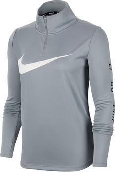 Nike Langarmshirt mit Halfzip Damen grau