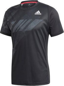 adidas FREELIFT PRINTED TENNIS HEAT.RDY T-SHIRT Herren schwarz