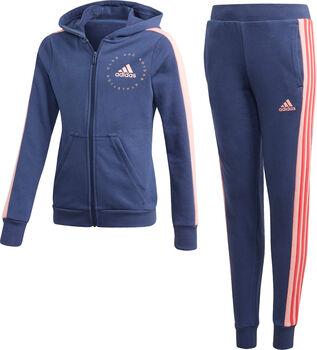 adidas Hooded Trainingsanzug Mädchen blau