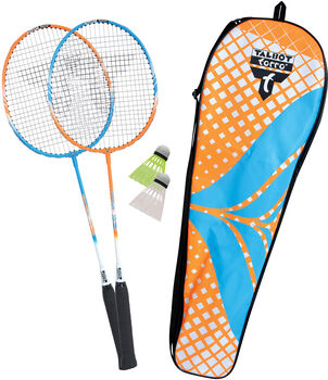 Talbot Torro Attacker Badminton Set mit 2 Schläger & 2 Bälle orange