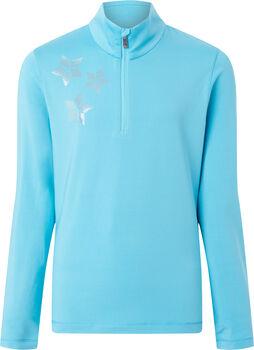 McKINLEY Dariana Langarmshirt mit Halfzip Mädchen blau
