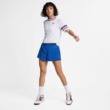 Nike Court Flex Tennisshort Damen blau