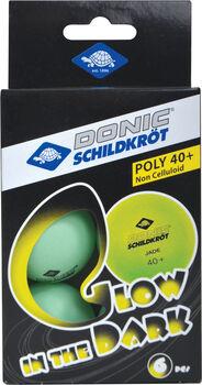 DONIC Glow in the Dark Tischtennisbälle weiß