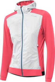 LÖFFLER Hooded Light Hybridjacke Damen pink