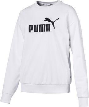 PUMA Ess Logo Crew Sweat Damen weiß
