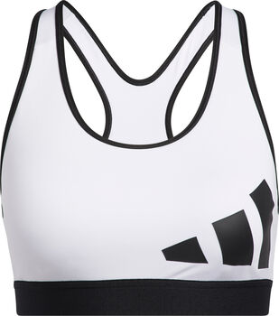 adidas Believe This Workout Logo Sport-BH Damen weiß
