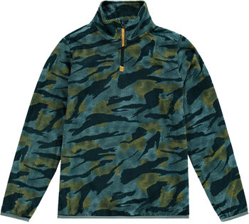 O'Neill Camo Fleece Hz Sweater mit 1/2 Zipp grün