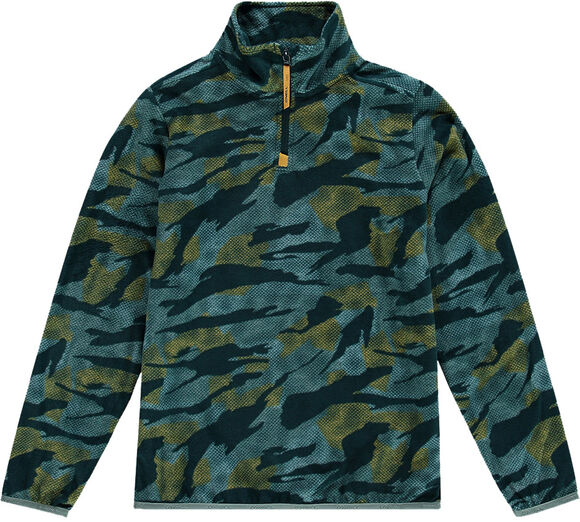 Camo Fleece Hz Sweater mit 1/2 Zipp
