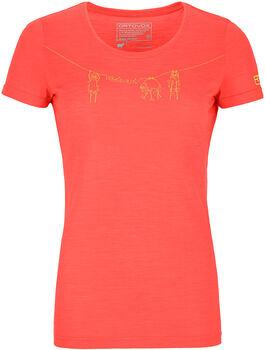 ORTOVOX 120 Cool Tec Wool T-Shirt Damen orange