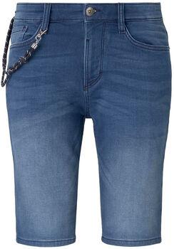 TOM TAILOR Knit Denim Shorts Herren blau