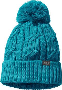 Jack Wolfskin Pompon Mütze blau