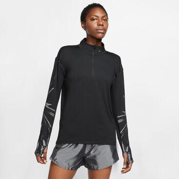 Nike Element Halfzip Langarmshirt Damen schwarz