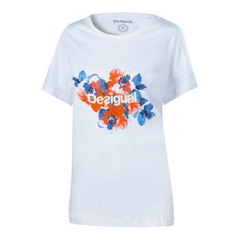 Desigual Camo Flower Freizeitshirt Damen weiß