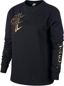 Nike Sportswear Langarmshirt Damen schwarz