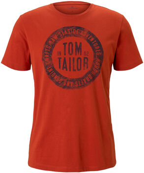 TOM TAILOR Basic With Print T-Shirt Herren orange