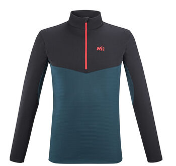 Millet Uluru Langarmshirt mit Halfzip Herren blau