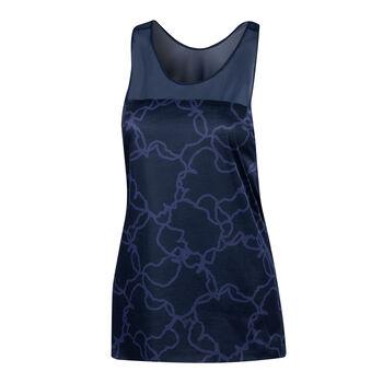 Desigual Camo Print Tanktop Damen blau