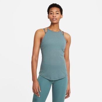 Nike Yoga Pointelle Tanktop Damen grün
