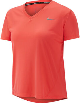 Nike Miler V-Neck T-Shirt Damen orange