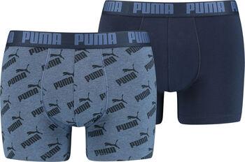 Puma AOP Boxershorts 2er Pack Herren blau