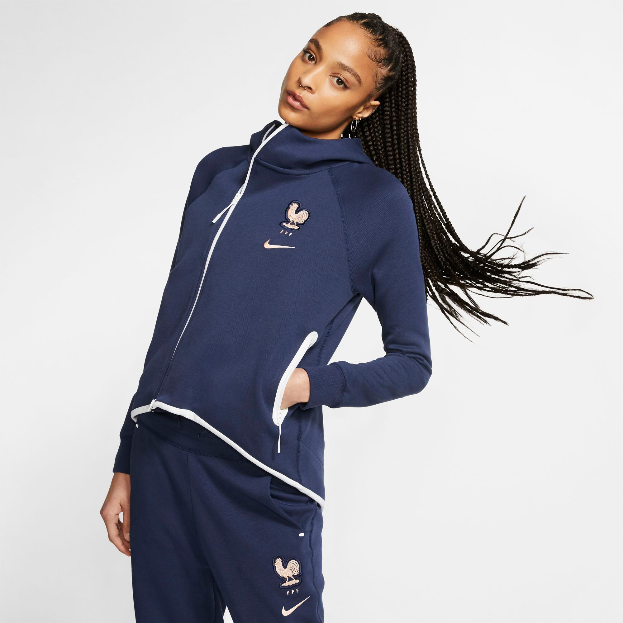 FFF Frankreich Trainingsjacke · blau · Damen » Nike