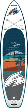 F2 Beach Bomber Stand-Up-Paddle Set weiß