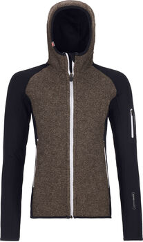 ORTOVOX Fleece Plus Classic Knit Hoodie Damen schwarz