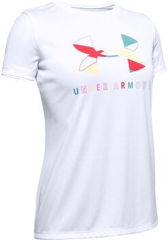 Under Armour Big Logo Tech T-Shirt Mädchen weiß