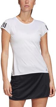 adidas 3-Streifen Club T-Shirt Damen weiß