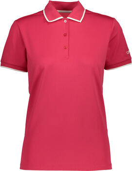 CMP Polo T-Shirt Damen rot