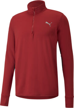 Puma Favourite Quarter-Zip Lauf-T-Shirt Herren rot
