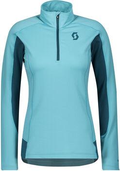 SCOTT Defined Light Langarmshirt mit Halfzip Damen blau